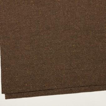 ウール&ポリウレタン混×ミックス(モカブラウン)×斜子織 サムネイル2