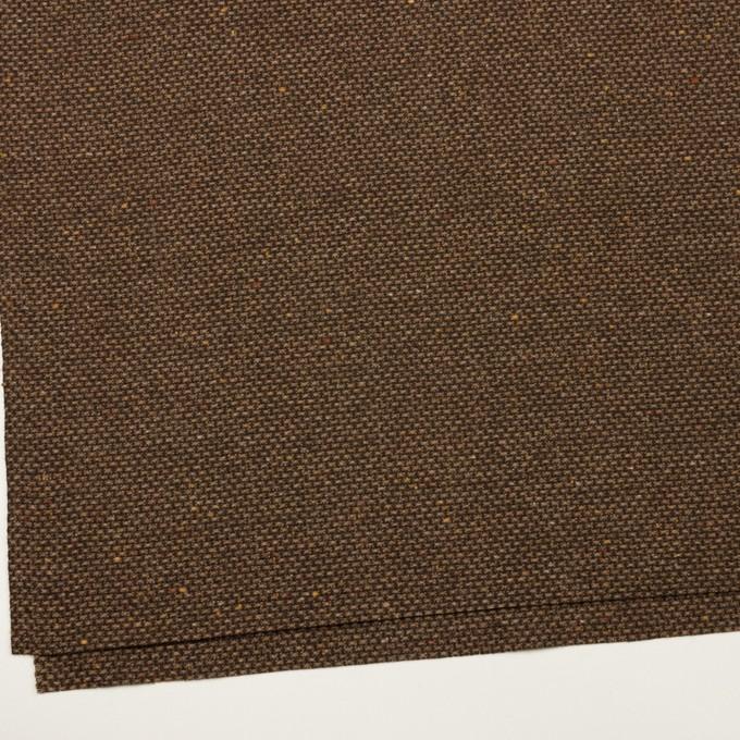 ウール&ポリウレタン混×ミックス(モカブラウン)×斜子織 イメージ2