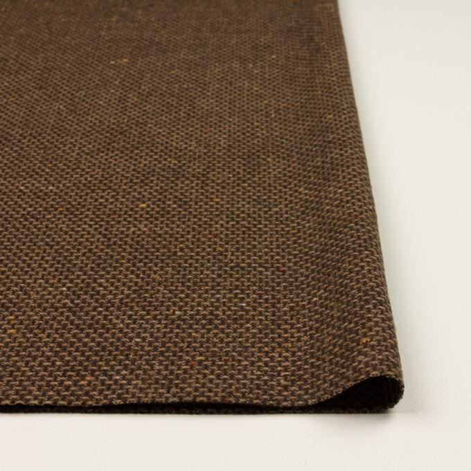 ウール&ポリウレタン混×ミックス(モカブラウン)×斜子織 イメージ3
