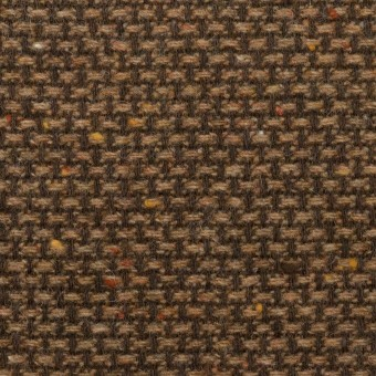 ウール&ポリウレタン混×ミックス(モカブラウン)×斜子織