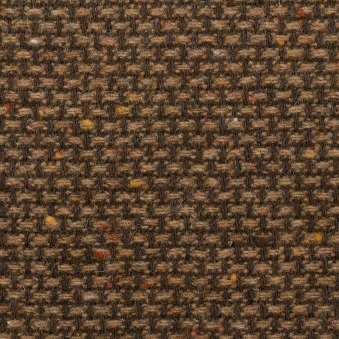 ウール&ポリウレタン混×ミックス(モカブラウン)×斜子織 イメージ1