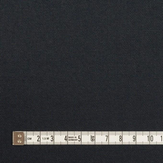 ウール×無地(アッシュネイビー)×サージ イメージ4