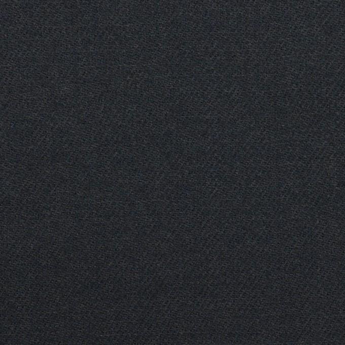 ウール×無地(アッシュネイビー)×サージ イメージ1
