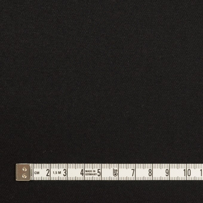 ウール×無地(ブラック)×サージ イメージ4