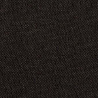 ウール&コットン×無地(チャコールブラック)×二重織_イタリア製