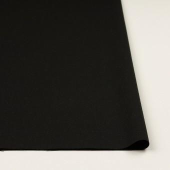 ウール×無地(ブラック)×サージ_イタリア製 サムネイル3