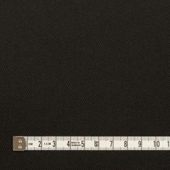ウール×無地(ブラック)×サージ_イタリア製 サムネイル4