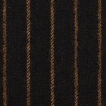 ウール×ストライプ(ブラック&モカ)×ツイード
