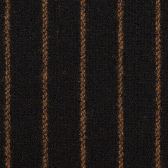 ウール×ストライプ(ブラック&モカ)×ツイード イメージ1