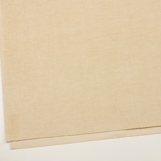 コットン&ポリウレタン×無地(ライトベージュ)×中細コーデュロイ・ストレッチ_全2色 イメージ2