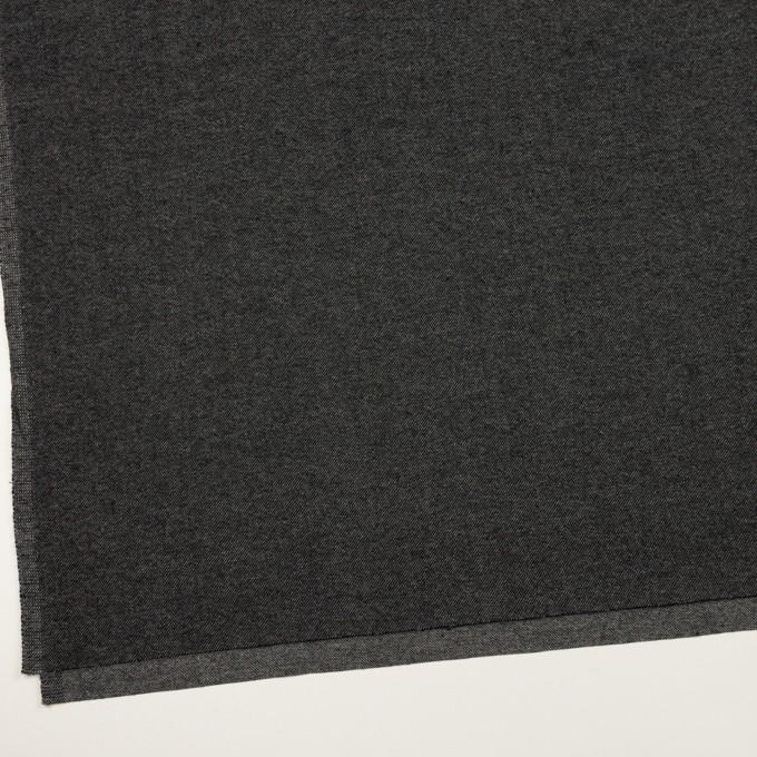 ウール&コットン混×無地(チャコールグレー)×ビエラストレッチ イメージ2
