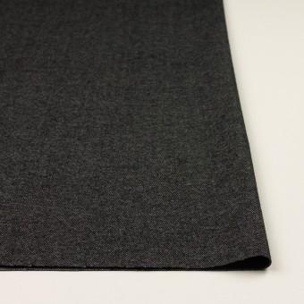 ウール&コットン混×無地(チャコールグレー)×ビエラストレッチ サムネイル3
