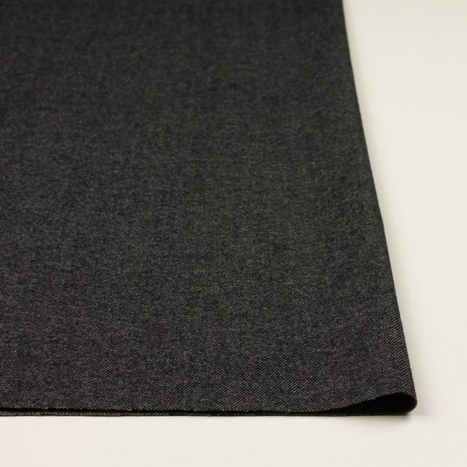 ウール&コットン混×無地(チャコールグレー)×ビエラストレッチ イメージ3