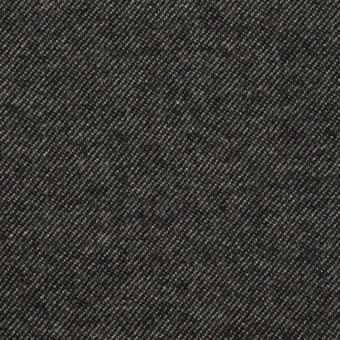 ウール&コットン混×無地(チャコールグレー)×ビエラストレッチ サムネイル1
