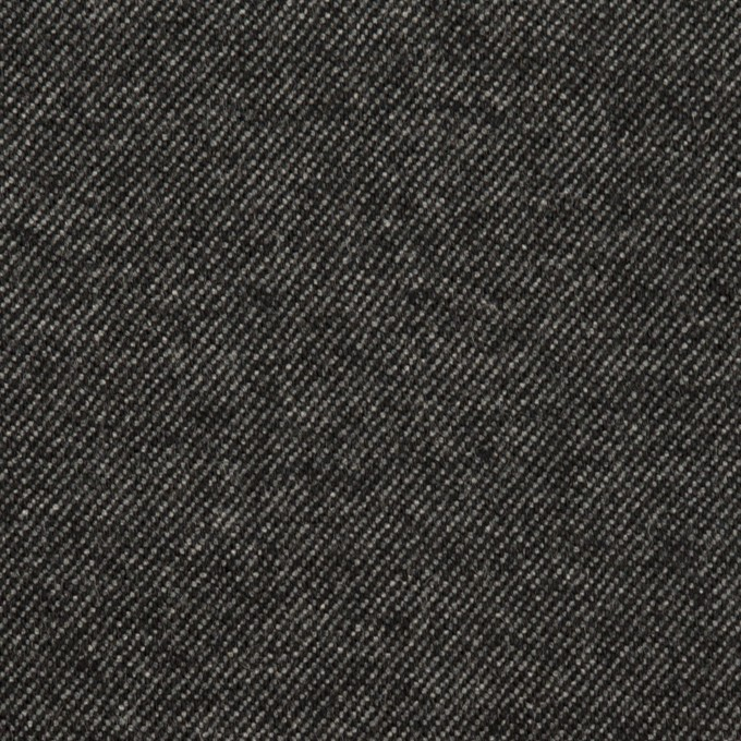 ウール&コットン混×無地(チャコールグレー)×ビエラストレッチ イメージ1