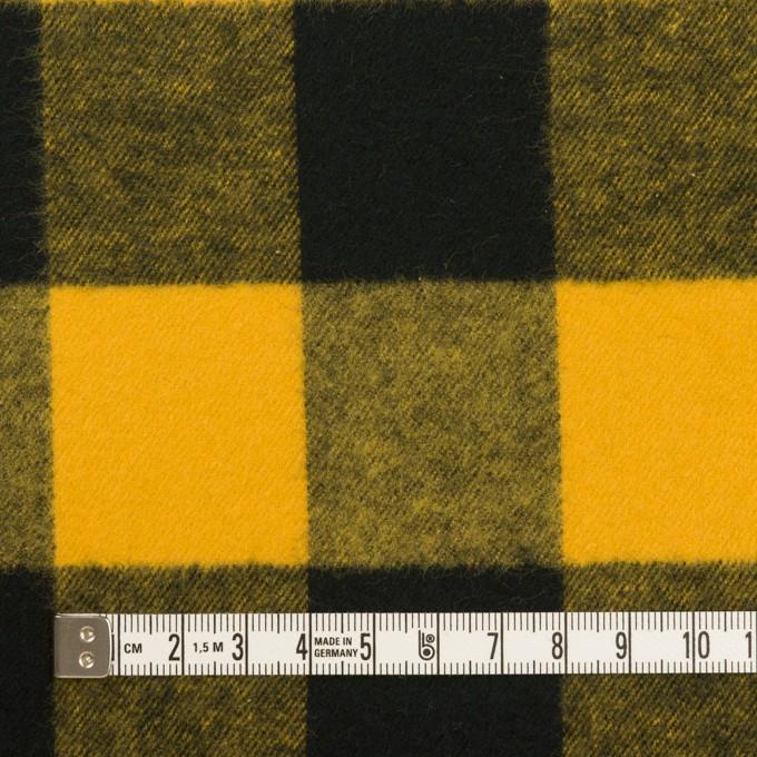 コットン×チェック(サンフラワー&ブラック)×フランネル イメージ4