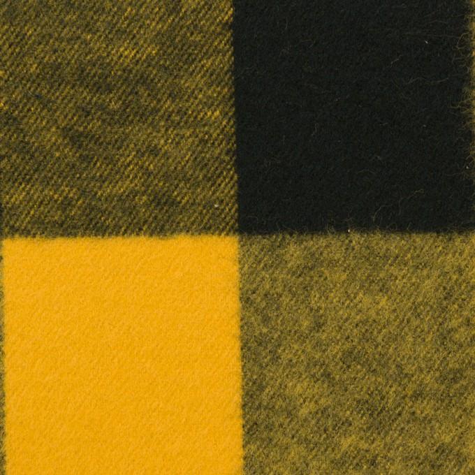 コットン×チェック(サンフラワー&ブラック)×フランネル イメージ1
