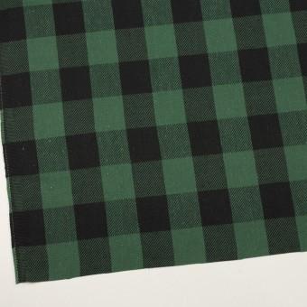 コットン×チェック(ホーリーグリーン&ブラック)×ビエラ サムネイル2