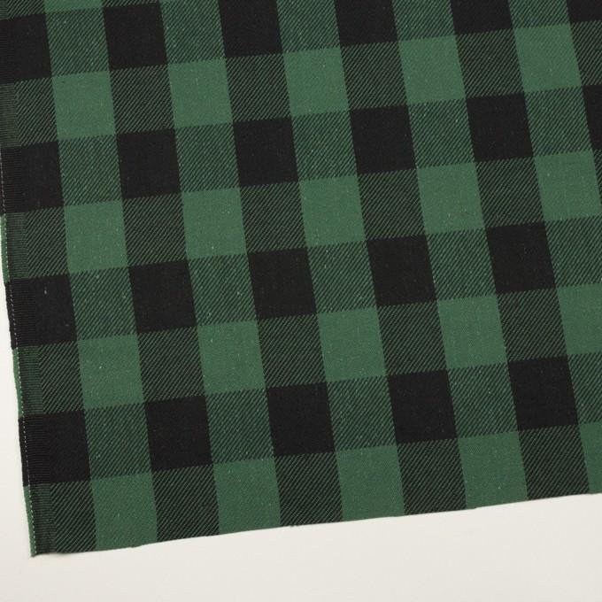 コットン×チェック(ホーリーグリーン&ブラック)×ビエラ イメージ2