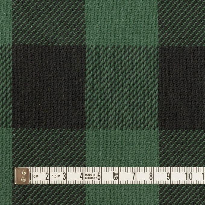 コットン×チェック(ホーリーグリーン&ブラック)×ビエラ イメージ4