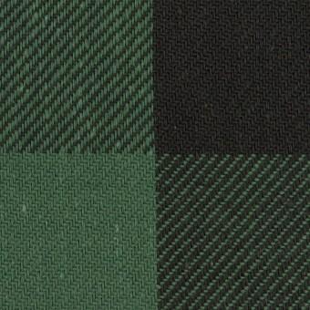 コットン×チェック(ホーリーグリーン&ブラック)×ビエラ サムネイル1