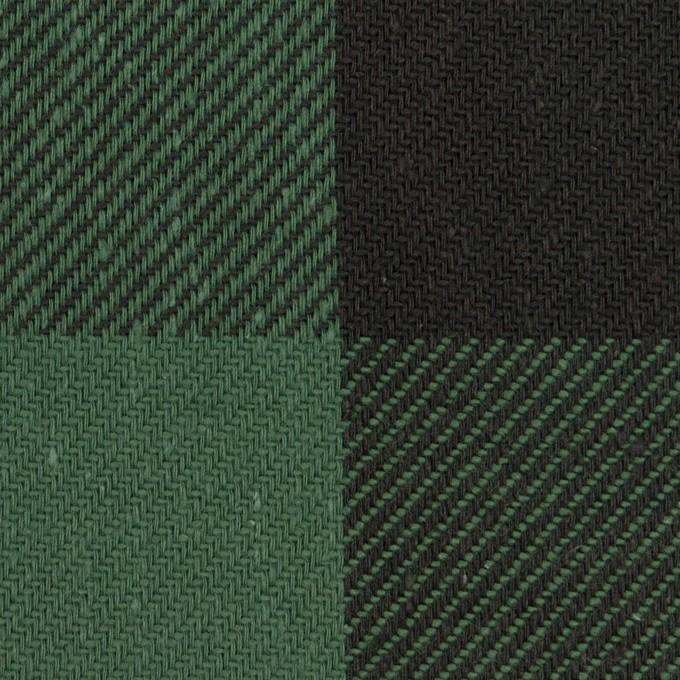 コットン×チェック(ホーリーグリーン&ブラック)×ビエラ イメージ1