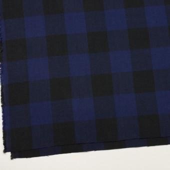 コットン×チェック(マリンブルー&ブラック)×ビエラ サムネイル2