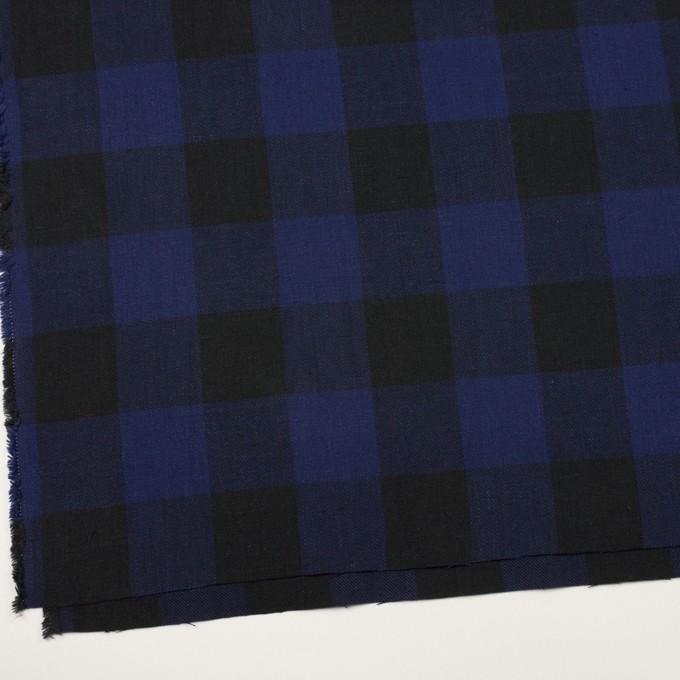 コットン×チェック(マリンブルー&ブラック)×ビエラ イメージ2