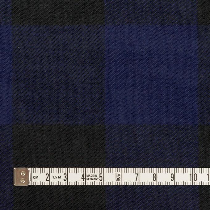 コットン×チェック(マリンブルー&ブラック)×ビエラ イメージ4