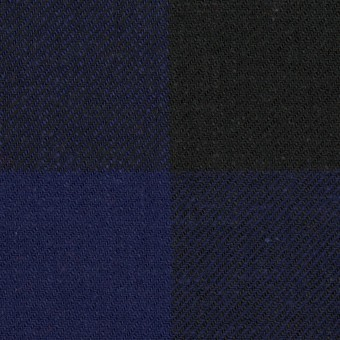 コットン×チェック(マリンブルー&ブラック)×ビエラ サムネイル1