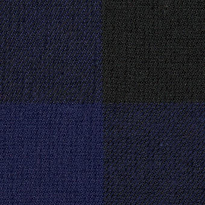 コットン×チェック(マリンブルー&ブラック)×ビエラ イメージ1