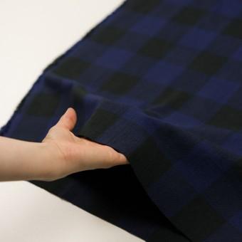コットン×チェック(マリンブルー&ブラック)×ビエラ サムネイル5