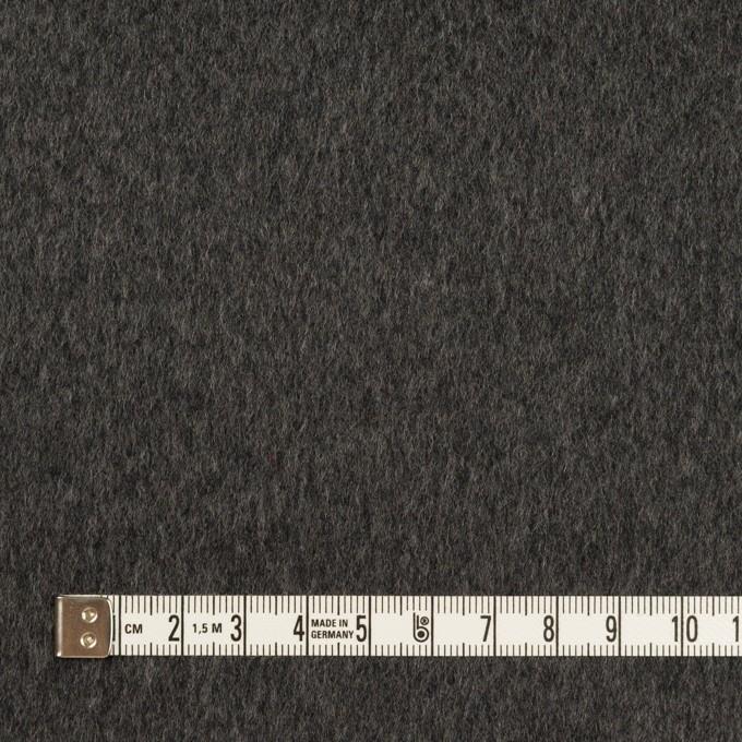 ウール&カシミア×無地(チャコールグレー)×ビーバー イメージ4
