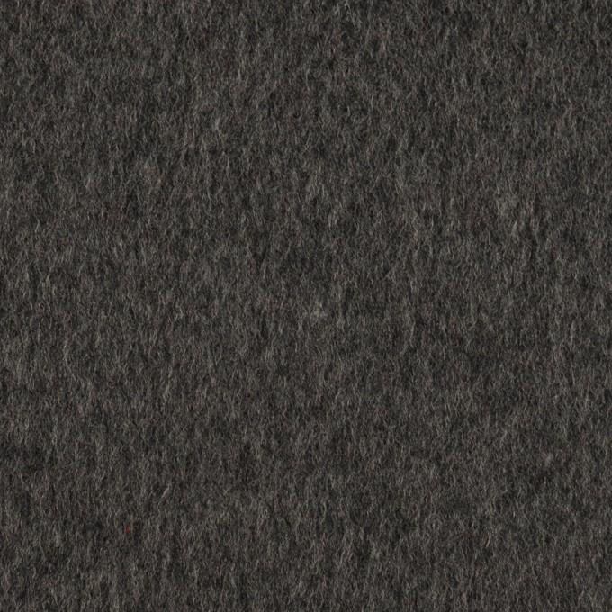 ウール&カシミア×無地(チャコールグレー)×ビーバー イメージ1