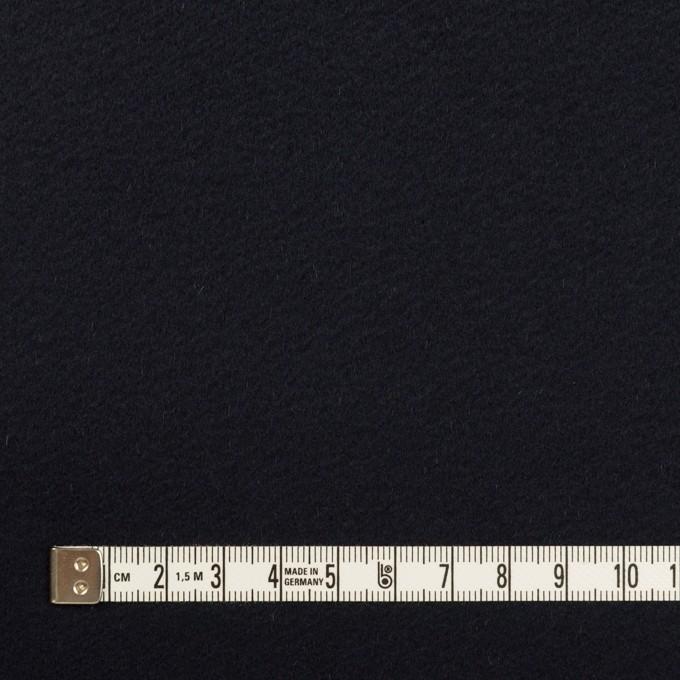 ウール&カシミア×無地(ダークネイビー)×ビーバー イメージ4