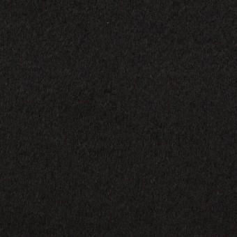 ウール&カシミア×無地(ブラック)×ビーバー