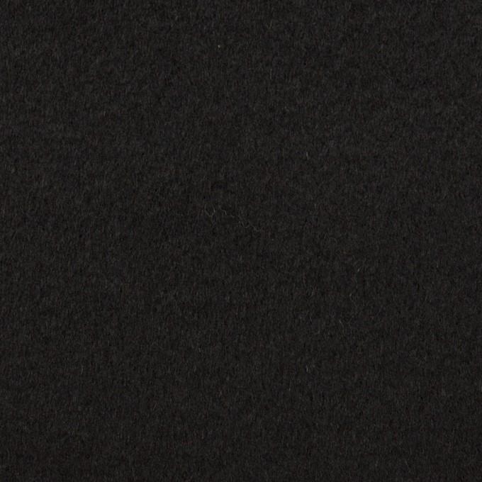 ウール&カシミア×無地(ブラック)×ビーバー イメージ1