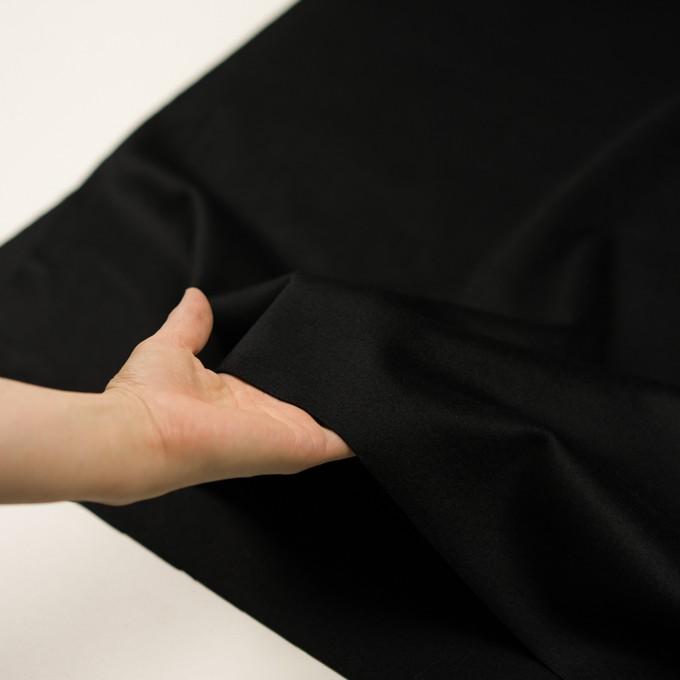 ウール&カシミア×無地(ブラック)×ビーバー イメージ5