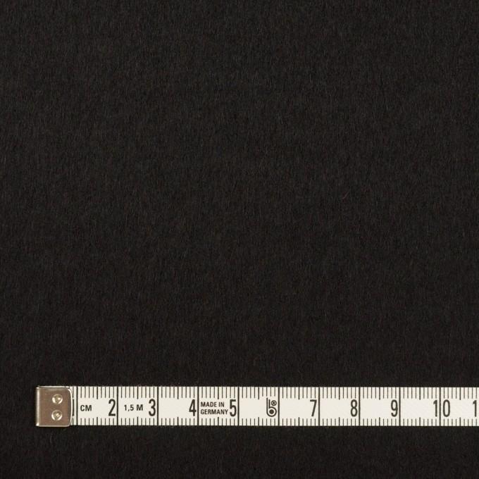 ウール&カシミア×無地(ブラック)×ビーバー イメージ4