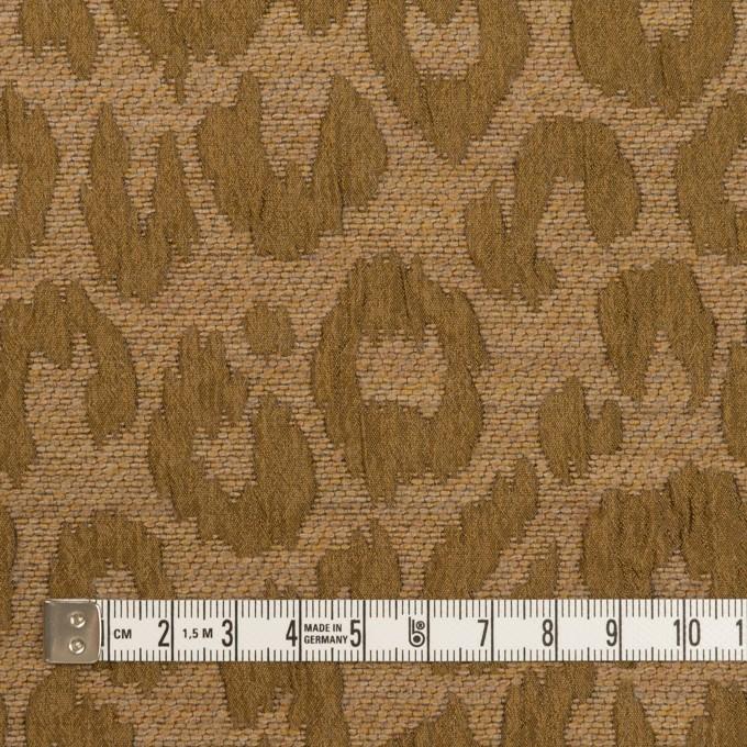 ウール&レーヨン混×レオパード(ゴールド)×フクレジャガード イメージ4