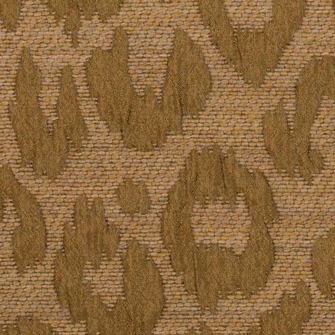 ウール&レーヨン混×レオパード(ゴールド)×フクレジャガード イメージ1