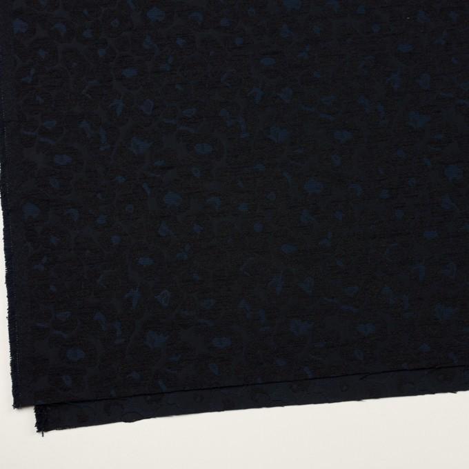 ポリエステル&コットン×レオパード(ダークネイビー)×ジャガード イメージ2