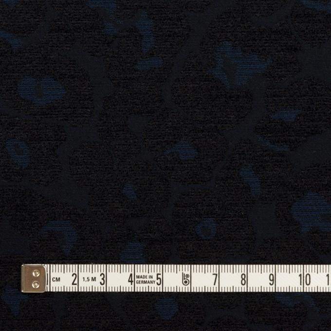 ポリエステル&コットン×レオパード(ダークネイビー)×ジャガード イメージ4