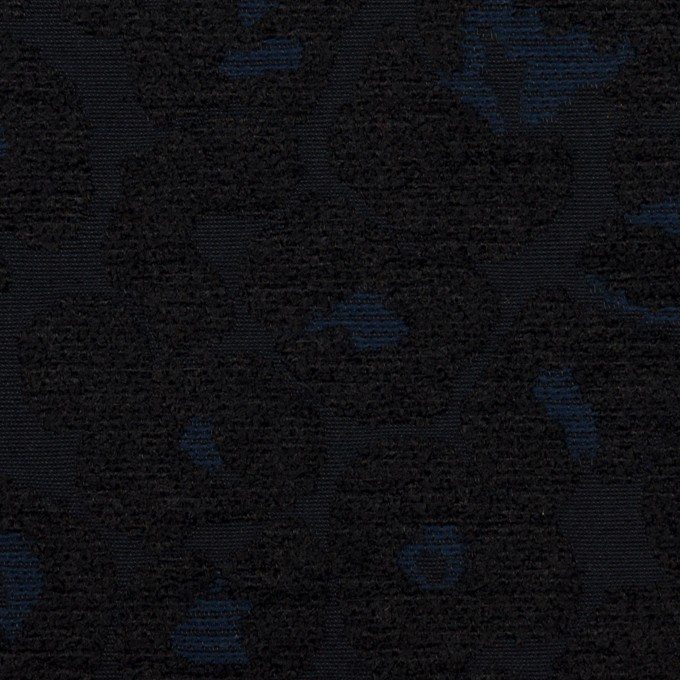 ポリエステル&コットン×レオパード(ダークネイビー)×ジャガード イメージ1