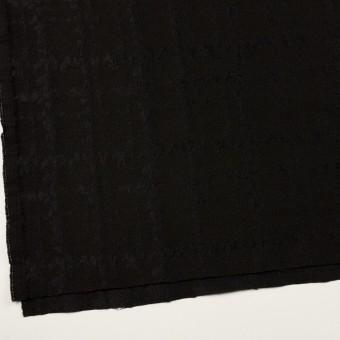 ウール&ナイロン混×幾何学模様(ブラック)×ジャガード サムネイル2