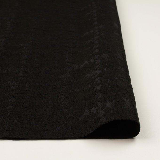 ウール&ナイロン混×幾何学模様(ブラック)×ジャガード イメージ3