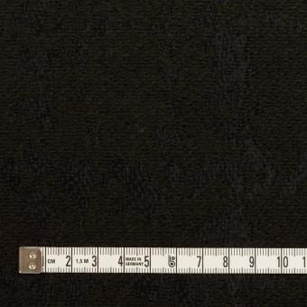 ウール&ナイロン混×幾何学模様(ブラック)×ジャガード サムネイル4