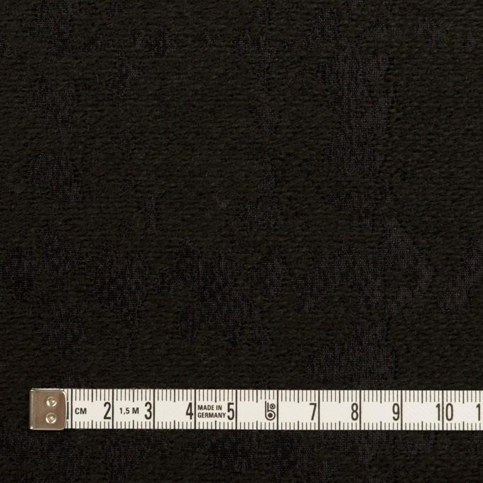 ウール&ナイロン混×幾何学模様(ブラック)×ジャガード イメージ4