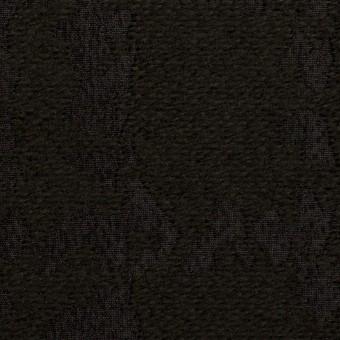 ウール&ナイロン混×幾何学模様(ブラック)×ジャガード