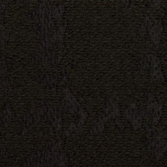 ウール&ナイロン混×幾何学模様(ブラック)×ジャガード イメージ1